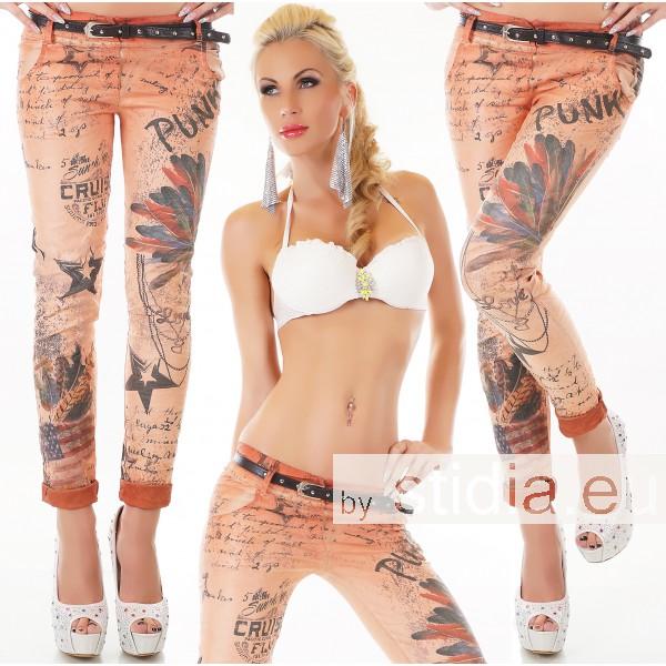 5 Stück SEXY Jeans HOSE ORANGE