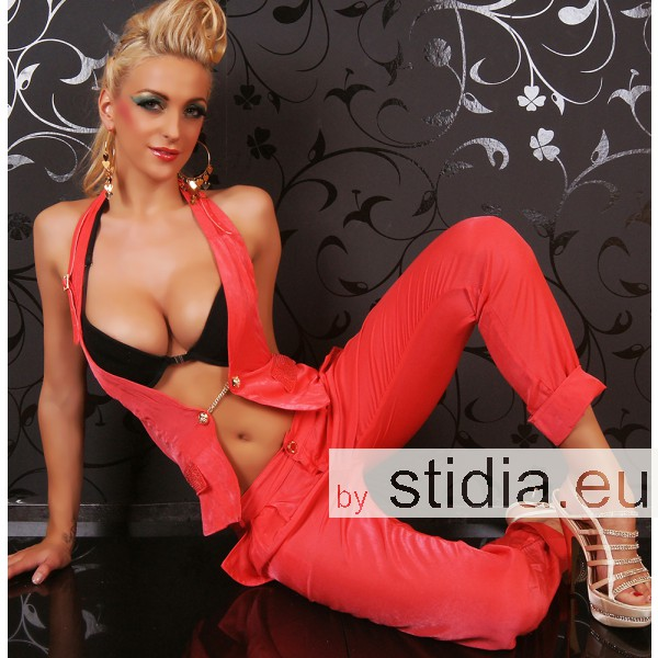 3 STÜCK SEXY REDIAL OVERALL 2 IN 1 STRASS CORAL