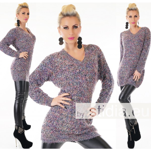 SEXY LONG GROB STRICK PULLOVER
