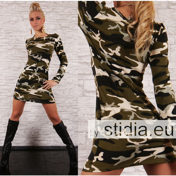 SEXY LONG PULLOVER CAMOUFLAGE III