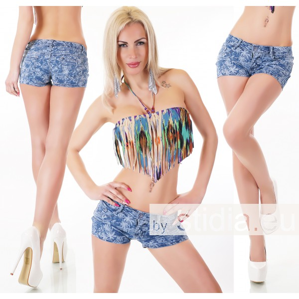 10 Stück SEXY JEANS HOT PANTS BLUE WASHED