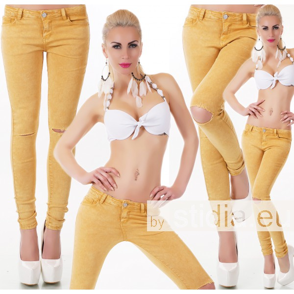 10 Stück SEXY Jeans HOSE CURRY