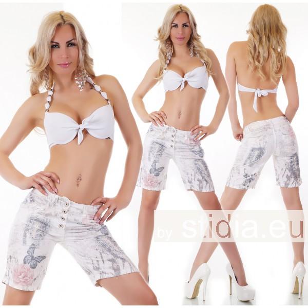 7 Stück SEXY Jeans SHORTS HOSE WEISS