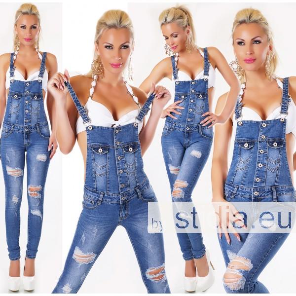 10 Stück SEXY LATZ Jeans BLUE WASHED