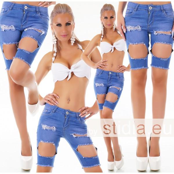 10 Stück SEXY BERMUDA  Jeans SHORTS BLAU