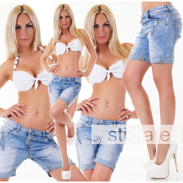 10 Stück SEXY JEANS SHORTS BLUE WASHED