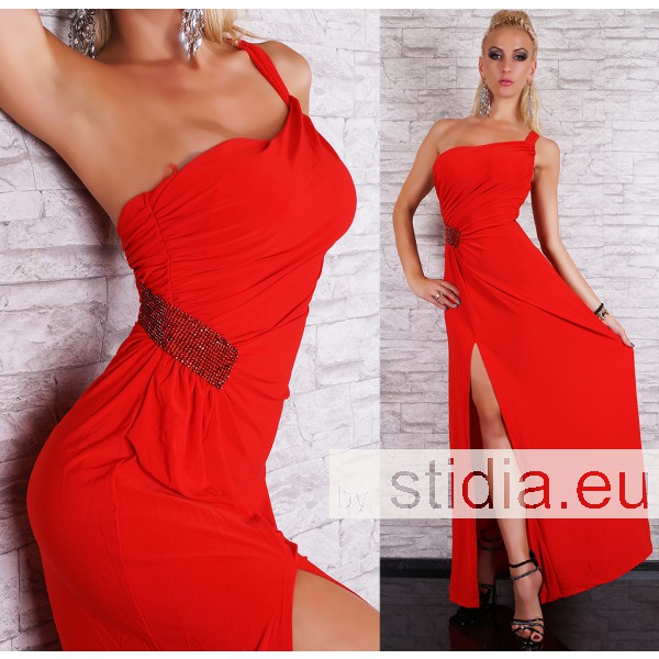 SEXY LONG KLEID MAXI ROT