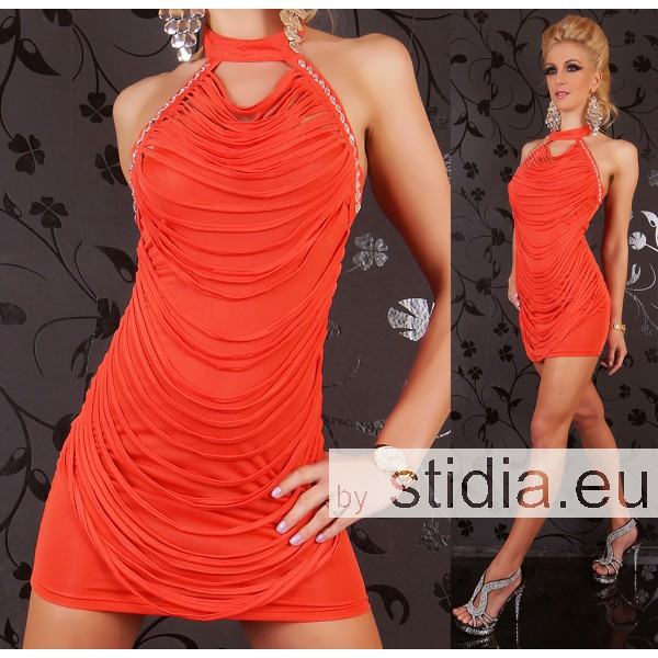 SEXY MINI KLEID ORANGE