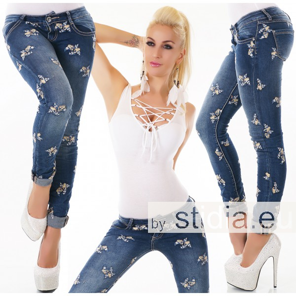 10 Stück SEXY Jeans BLUE WASHED