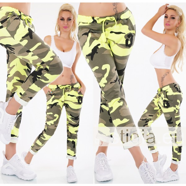 SEXY HOSE ITALY CAMOUFLAGE GELB