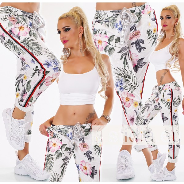 SEXY HOSE ITALY FLOWER WEISS