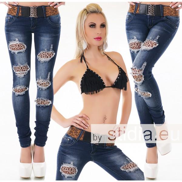 10 Stück SEXY Jeans DESTROYED INCL. GÜRTEL