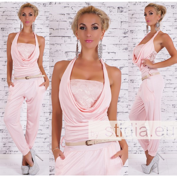 SEXY OVERALL JUMPSUIT ROSA