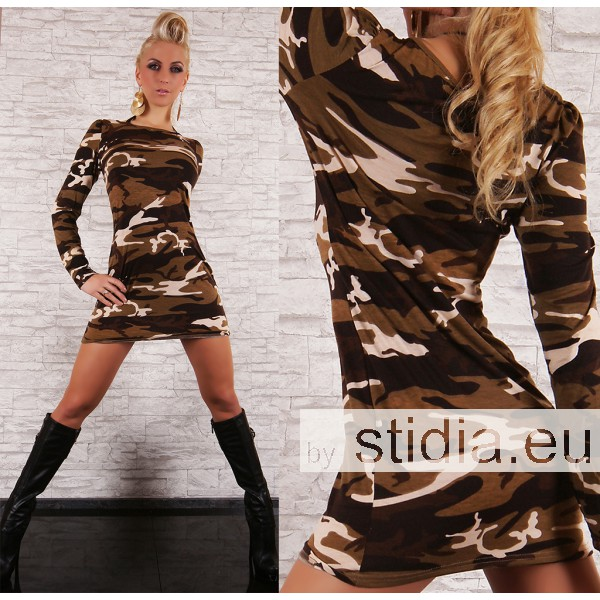SEXY LONG PULLOVER CAMOUFLAGE I
