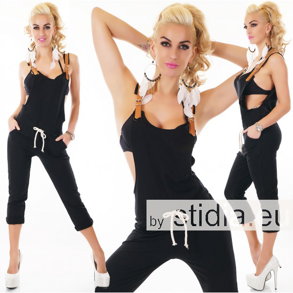 SEXY OVERALL JUMPSUIT SCHWARZ
