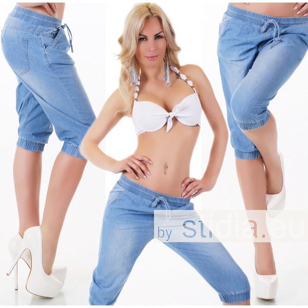 10 Stück Sexy CAPRI JEANS PUMPHOSE BLUE WASHED