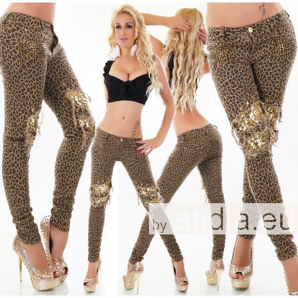 10 Stück SEXY Jeans LEOPARD