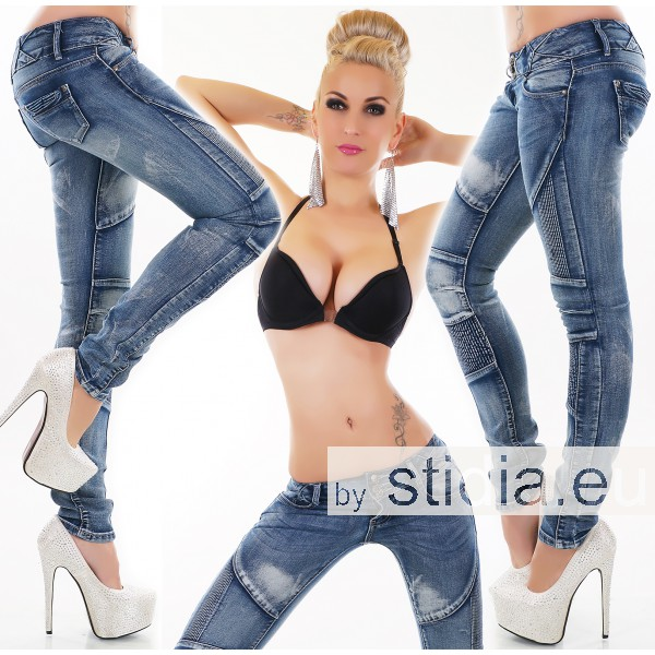 12 Stück SEXY Jeans  BLUE WASHED