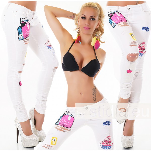 10 Stück SEXY Jeans WEISS