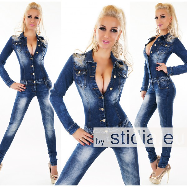 10 Stück SEXY Jeans.OVERALL BLUE WASHED