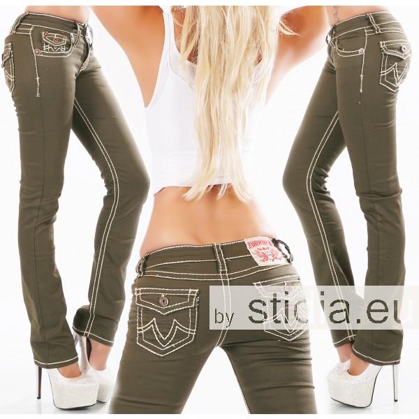 10 Stück SEXY Jeans FLAP POCKETS KHAKI