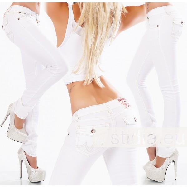10 Stück SEXY Jeans FLAP POCKETS WEISS