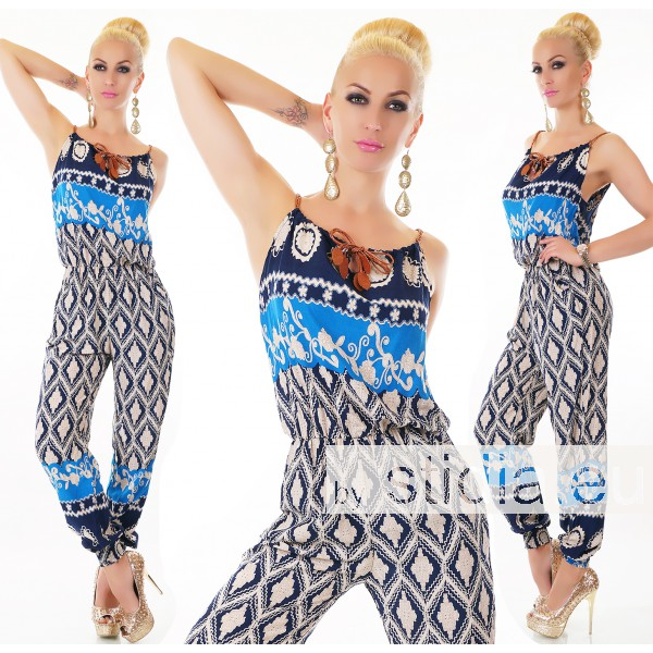 SEXY OVERALL JUMPSUIT BLAU