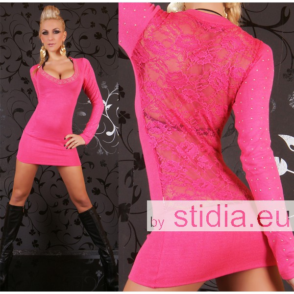 2 STÜCK SEXY PULLOVER REDIAL SPITZE PINK