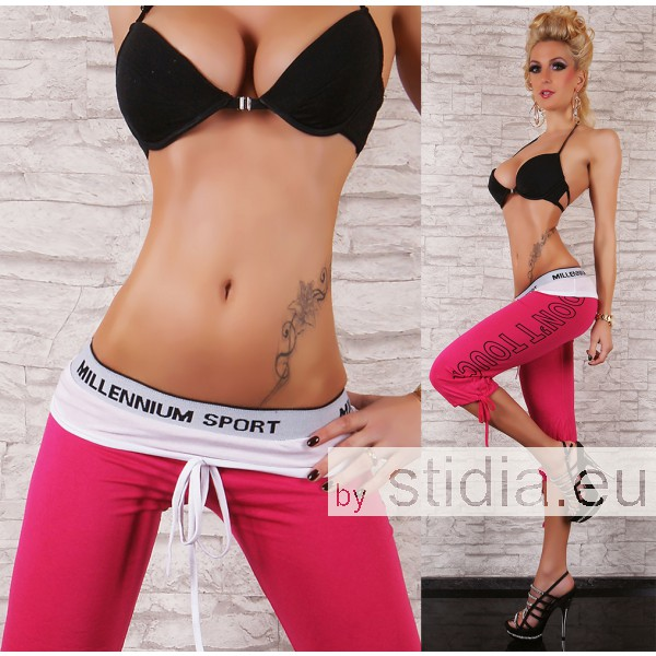 """SEXY CAPRI HOSE """"DON´T TOUCH"""" PINK."""