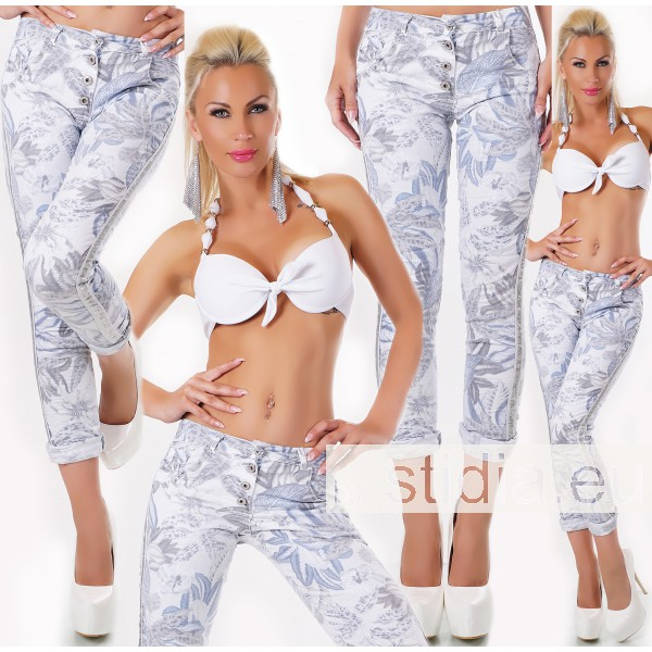3 STÜCK SEXY Jeans HOSE ITALY WEISS-BLAU