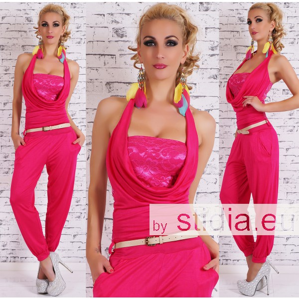 SEXY OVERALL JUMPSUIT PINK