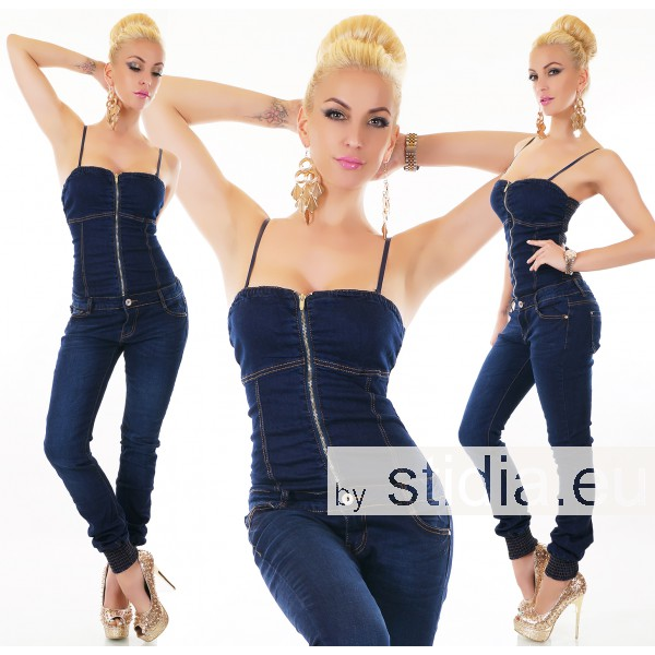 10 Stück SEXY Jeans OVERALL BLUE WASHED