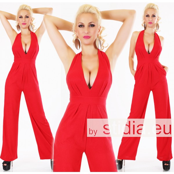 SEXY OVERALL JUMPSUIT ITALY ROT