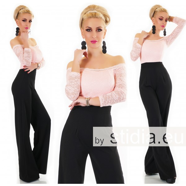 SEXY OVERALL JUMPSUIT ITALY SCHWARZ-ROSA