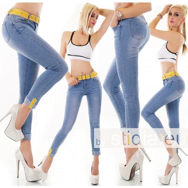 10 Stück SEXY Jeans INCL. GÜRTEL BLAU