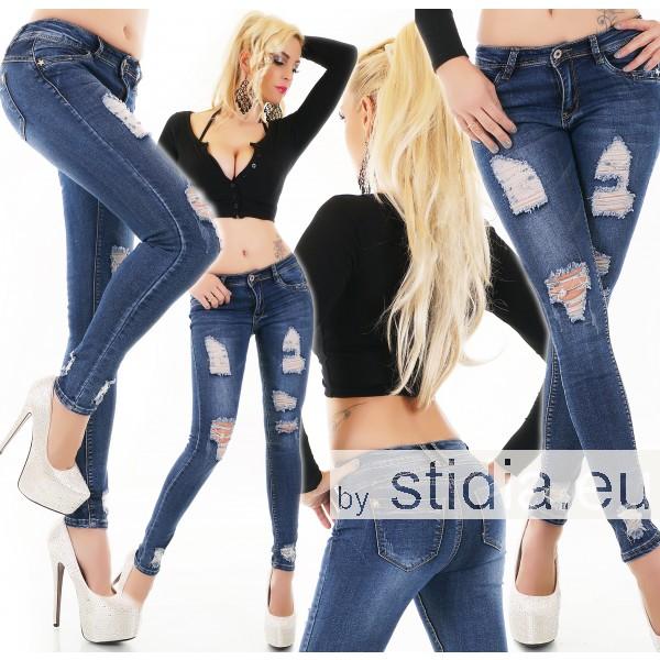 10 Stück SEXY Jeans DUNKELBLAU