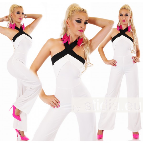 SEXY ITALY OVERALL JUMPSUIT WEISS