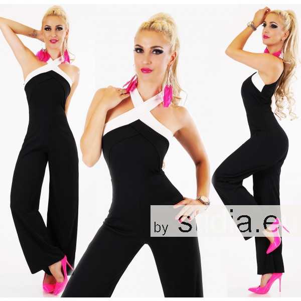 SEXY ITALY OVERALL JUMPSUIT SCHWARZ
