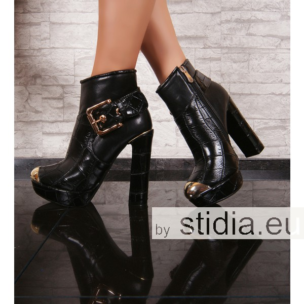 12 PIECES SEXY PLATEAU ANKLE BOOTS