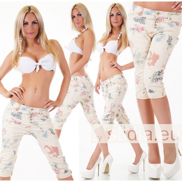 10 Stück SEXY CAPRI Jeans BEIGE