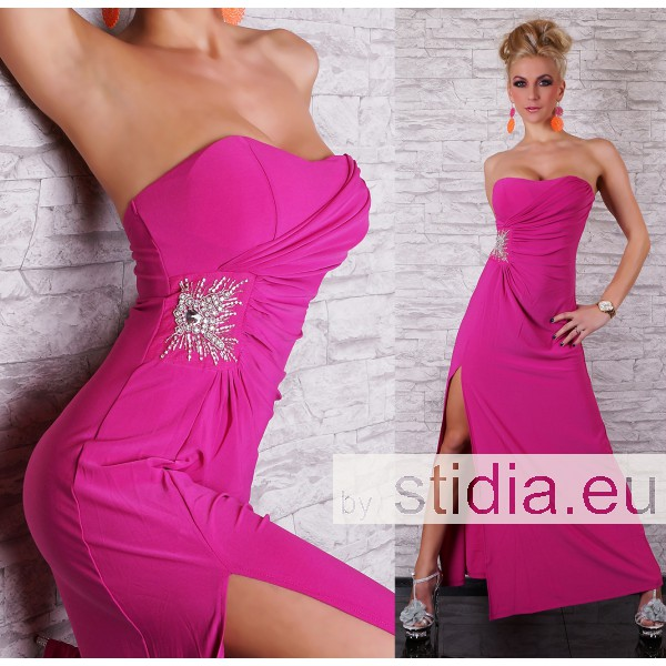SEXY LONG KLEID MAXI PINK