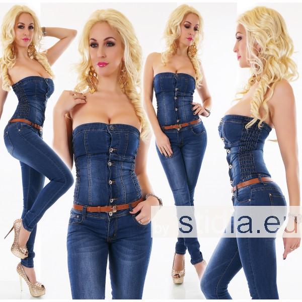 10 Stück SEXY Jeans.OVERALL DUNKELBLAU INCL. GÜRTEL