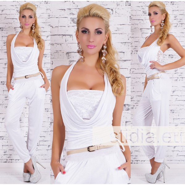 SEXY OVERALL JUMPSUIT WEISS