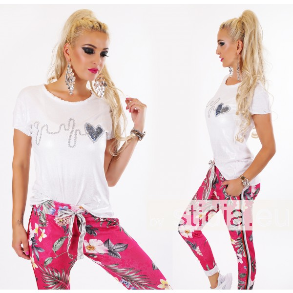 SEXY T-SHIRT ITALY GLOSSY WEISS