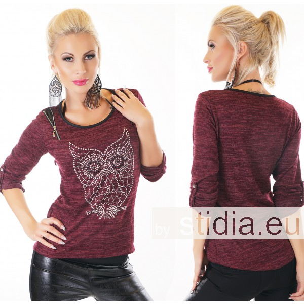 SEXY SHIRT TUNIKA BORDEAUX