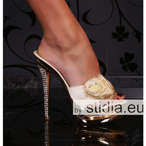 7 PIECES SEXY HIGH HEELS CHAMPAGNER/GOLD