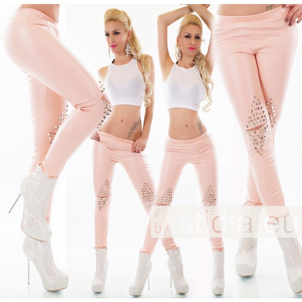 3 PIECES SEXY WET LOOK LEATHER PANTS CUTS ROSA