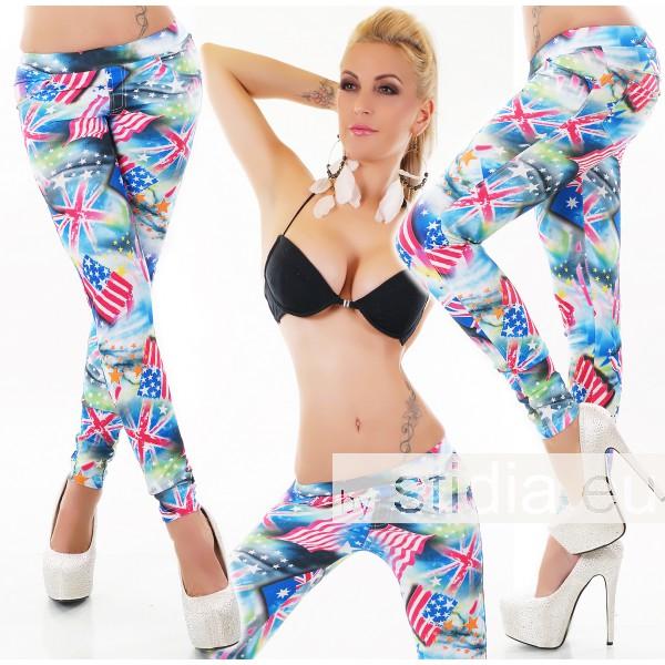 4 PIECES SEXY LEGGING PANTS USA UK BLUE